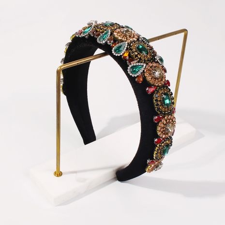 retro fashion baroque exaggerated  diamond headband NHMD270678's discount tags