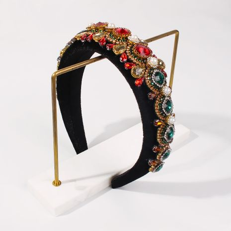 Baroque luxury sponge diamond retro palace exaggerated headband NHMD270679's discount tags