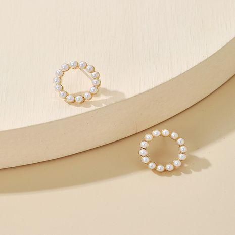 Pendientes de círculo simple de perlas coreanas NHGY270680's discount tags