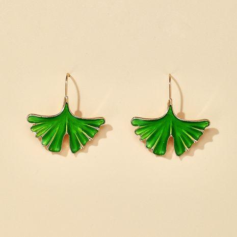 fashion new ginkgo fashion sweet leaf short earrings NHGY270685's discount tags