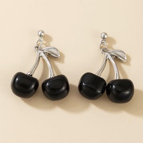boucles d'oreilles cerises noires mode simple cerises noires NHGY270686's discount tags