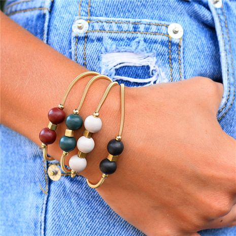 bracelet de printemps perles en bois 4 sets NHLU270692's discount tags