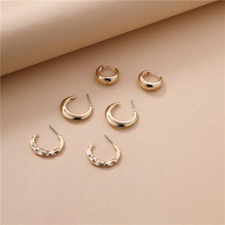 wholesale copper earrings 3 pairs set NHLU270700's discount tags