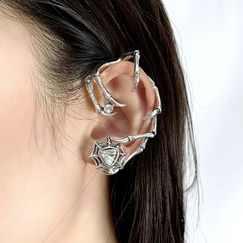 punk dark black claws old exaggerated trendy cool earrings NHNT270703