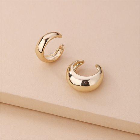 wholesale copper C-shaped glossy ear clip 2-piece set NHLU270704's discount tags