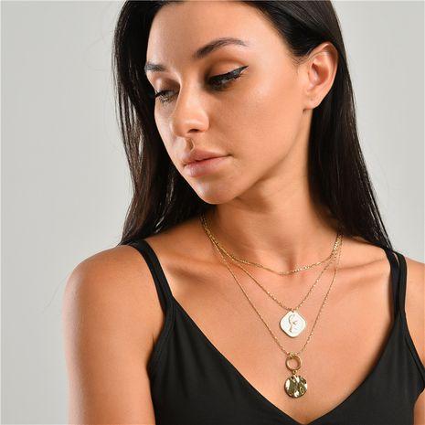 fashion coin multi-layer necklace 3-piece set wholesale NHLU270707's discount tags
