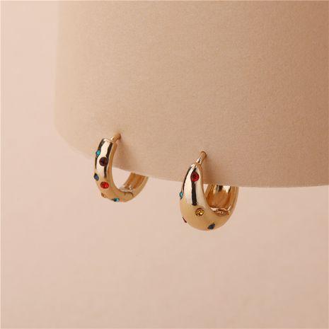 Al por mayor accesorios de cobre abiertos coloridos pendientes de piedras preciosas. NHLU270711's discount tags
