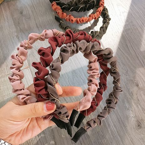 New Korean chic wind folds round beads simple  headband  NHHI270715's discount tags