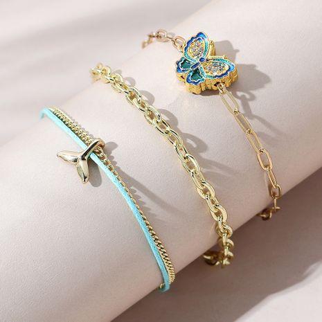 ensemble de bracelet papillon fleur NHPS270775's discount tags