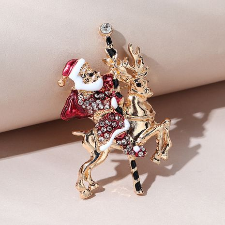 Christmas series wild fashion  trendy Santa brooch NHPS270784's discount tags