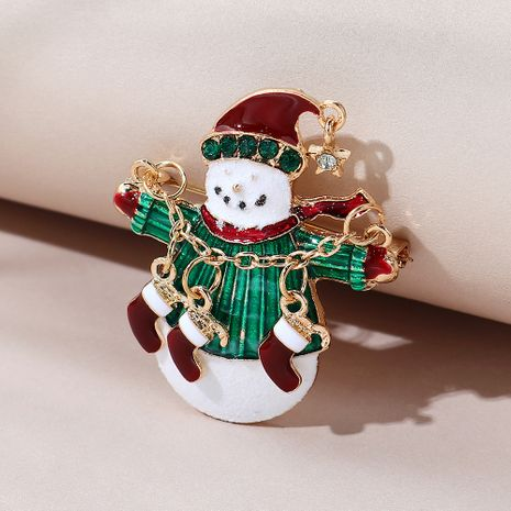 Christmas series small fresh sweet wild cute Christmas snowman brooch NHPS270788's discount tags