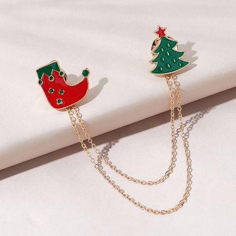 beliebte Trend wilde Weihnachtsstiefel Brosche NHPS270795's discount tags