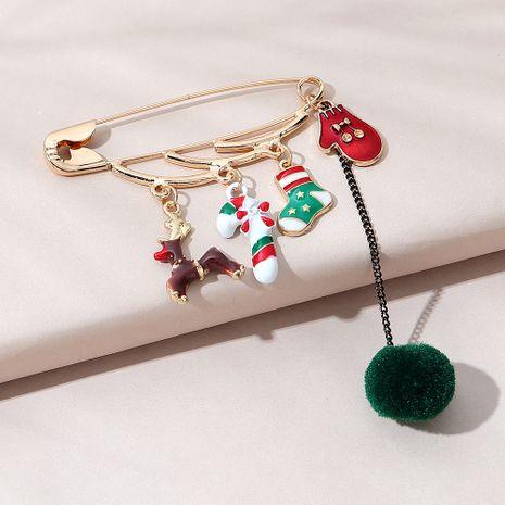 Kreative wilde trendige kleine frische Brosche der Weihnachtsserie NHPS270800's discount tags
