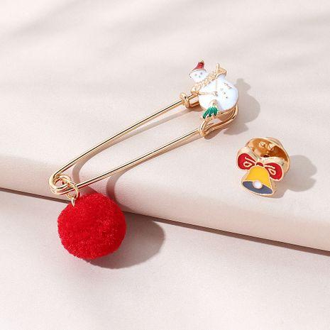kreatives All-Match-Weihnachts-Schneepuppen-Broschen-Set NHPS270804's discount tags