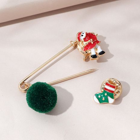 trendige Mode Weihnachtssocken Brosche gesetzt NHPS270807's discount tags