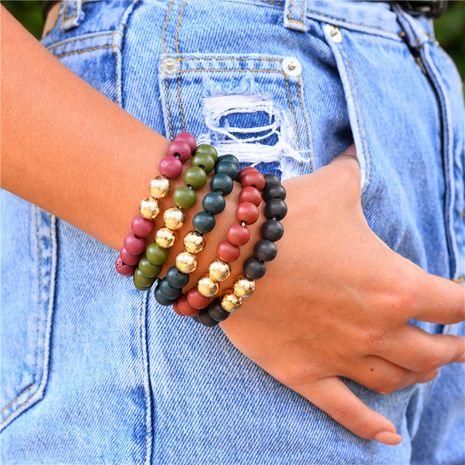 ensemble de bracelet élastique en perles de bois de mode NHLU270823's discount tags