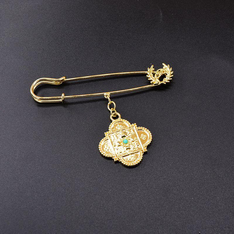 Fashion simple pin key ring brooch  NHNT270844