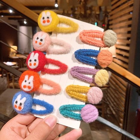 Horquilla de fieltro de conejo lindo de lana coreana NHSA270848's discount tags