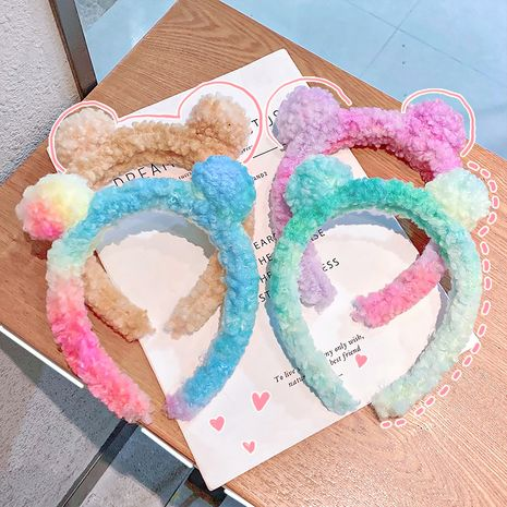 plush hair band lamb velvet press hair bundle headband  NHNA270858's discount tags