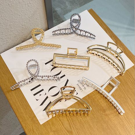 Simple metal catch clip large shower hair catch clip NHNA270859's discount tags