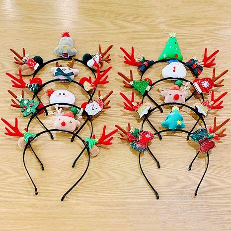 Christmas cartoon antlers  tree headband NHNA270866's discount tags
