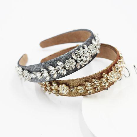 Fashion baroque diamond-studded ball headband NHWJ270869's discount tags