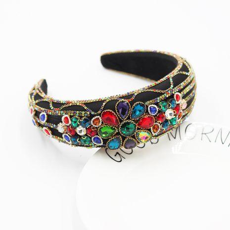 Fashion Baroque Sponge Diamond Gem Granular Geometric headband  NHWJ270870's discount tags