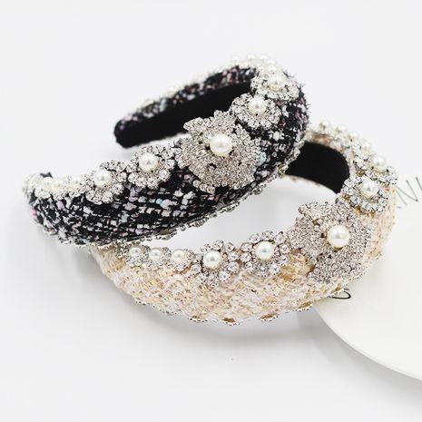 Diadema exagerada de perlas con incrustaciones de diamantes barrocos de nueva moda NHWJ270871's discount tags