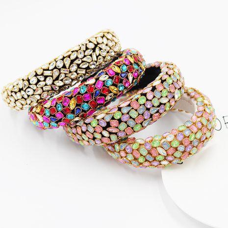 New  fashion baroque  full diamond geometric headband  NHWJ270872's discount tags