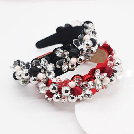 moda exagerada bola de metal de cristal personalidad dama diadema NHWJ270880's discount tags