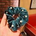 NHUX1194638-Dark-Green-Velvet-Pearl-Large-Intestine-Hair-Tie