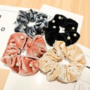 Korean  new fabric gold velvet hair scrunchies  NHUX270914
