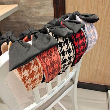 Corea nueva diadema retro de aro de pelo Bowknot de punto NHUX270916's discount tags