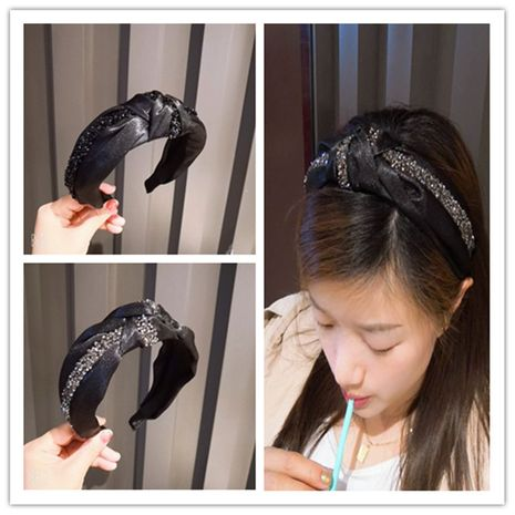 La nueva banda para el cabello con incrustaciones de diamantes de lujo de alta gama de Corea NHUX270924's discount tags