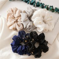 Star Chiffon Large Intestine Circle hair scrunchies  NHDM270937