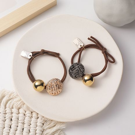 retro round alloy hair rope korean simple  hair ring NHMS270967's discount tags
