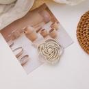 Korea pearl rhinestone flower hairpin  NHMS270979