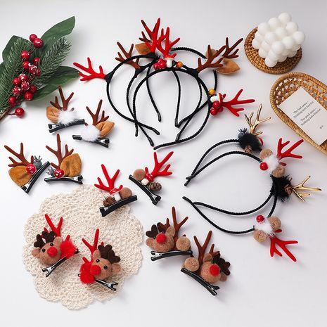 Christmas headband elk hair clip  plush ball headband  NHMS270989's discount tags