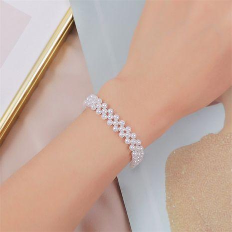 Bracelet coréen en perles tissées à la main NHLA270997's discount tags