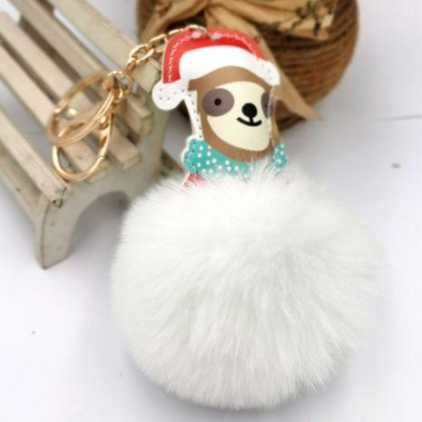 PU dog hair ball keychain  NHDI271006's discount tags