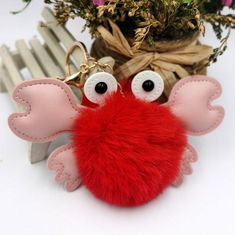 Creative PU Crab Hair Ball Keychain NHDI271009's discount tags