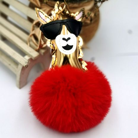 laser glossy alpaca ball keychain  NHDI271010's discount tags