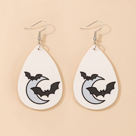 leather drop-shaped double-sided printed leather earrings  NHGY271267's discount tags