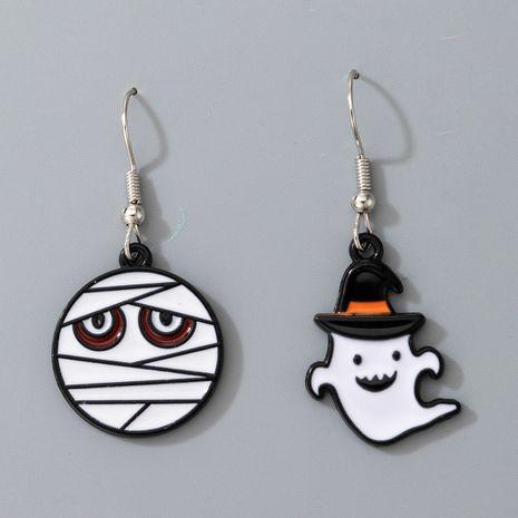 fashion cartoon pumpkin ghost alloy Halloween earrings  NHGY275372's discount tags