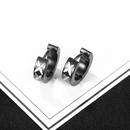 Boucles d39oreilles pour hommes en acier titane  motif sauvage en Core NHOP271016