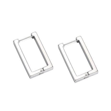 Korean simple rectangular geometric titanium steel earrings wholesale NHOP271040's discount tags
