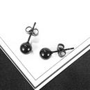 classic wild round bead titanium steel mens earrings NHOP271045
