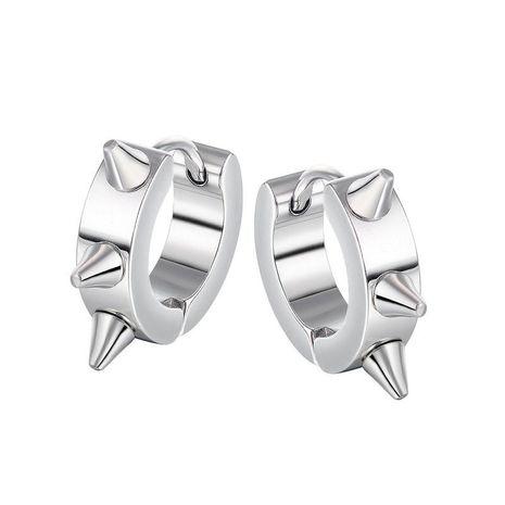 boucles d'oreilles punk en acier titane tendance NHOP271047's discount tags