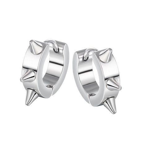 pendientes de acero de titanio punk de moda NHOP271047's discount tags