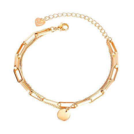 nouvelle mode amour visage souriant bracelet en acier au titane multicouche en gros NHOP271054's discount tags